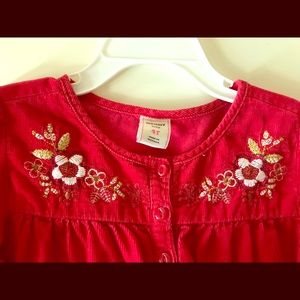 Red old navy dress 4T
